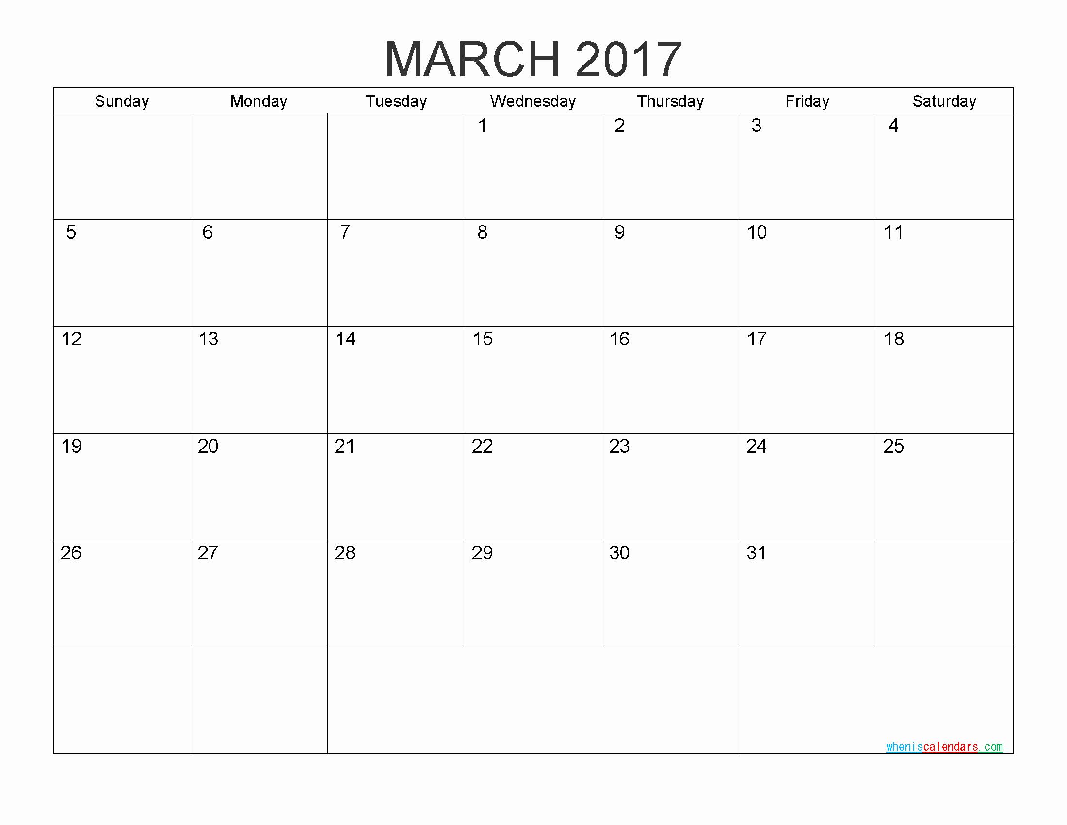 Monthly Calendar 2017 Printable Free Luxury Free Printable Calendar 2017 Monthly Calendar by Pdf