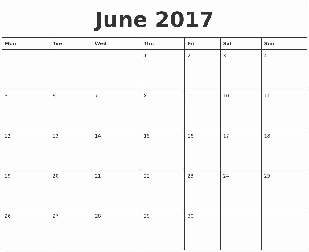 Monthly Calendar 2017 Printable Free Luxury Printable Monthly Calendar 2017