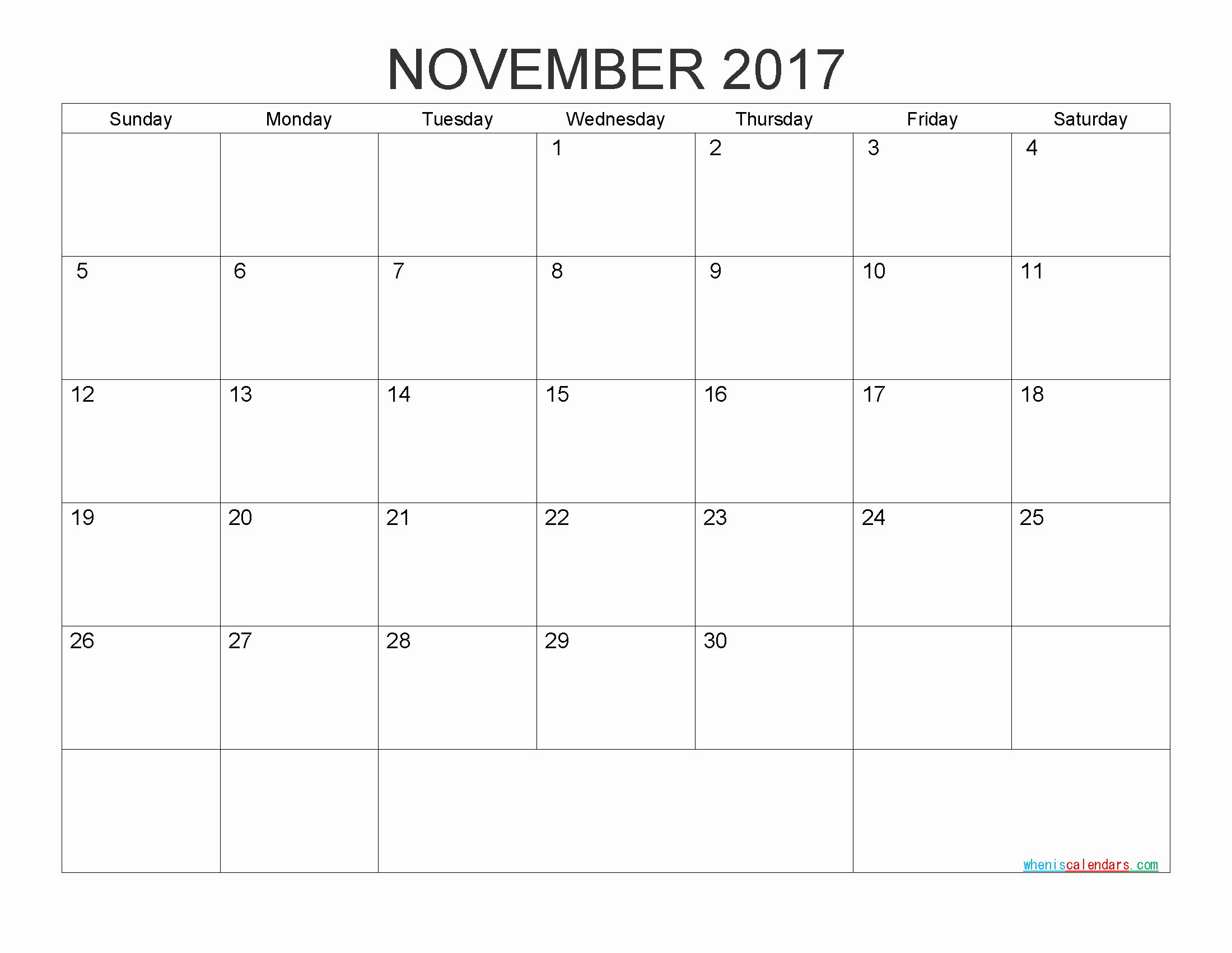 Monthly Calendar 2017 Printable Free New Free Printable Calendar 2017 Monthly Calendar by Pdf