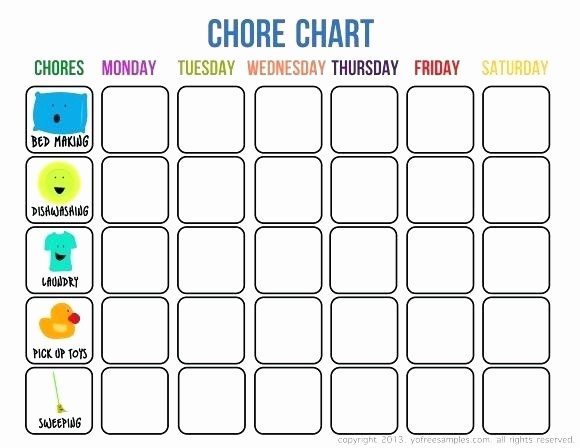 Monthly Chore Chart for Family Lovely Free Family Chore Chart Template Weekly Monthly