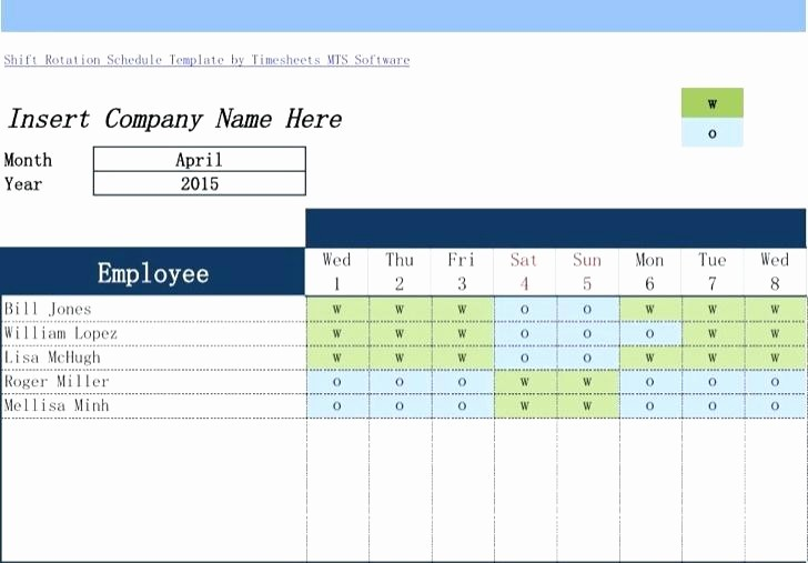 Monthly Employee Shift Schedule Template Beautiful Rotating Weekend Schedule Template Shift Download