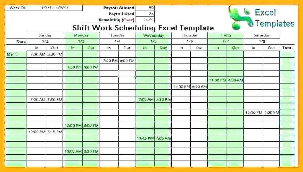 Monthly Employee Shift Schedule Template Best Of Employee Schedule Maker Excel Schedule Maker Excel
