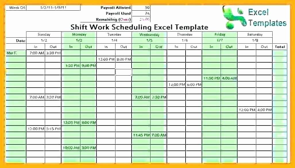 Monthly Employee Shift Schedule Template Best Of Employee Schedule Maker Excel Schedule Maker Excel