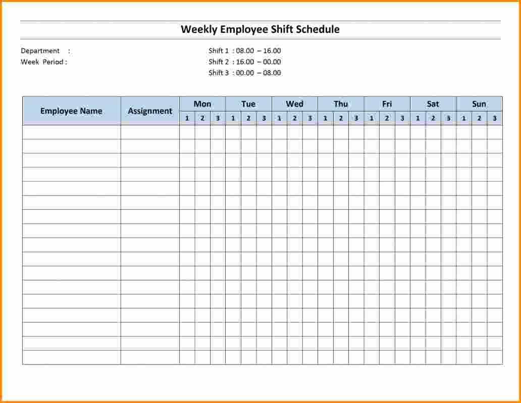 Monthly Employee Shift Schedule Template Fresh 7 Shift Schedule Template