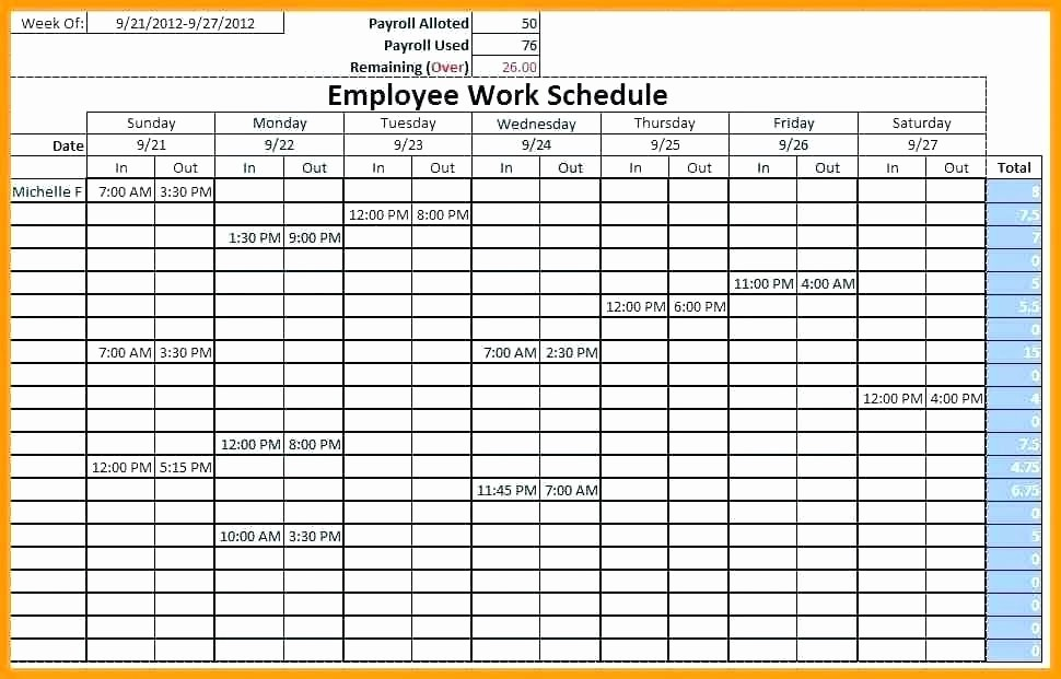 Monthly Employee Shift Schedule Template Lovely Free Excel Schedule Template Monthly Employee Shift Work