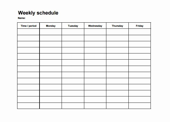 Monthly Employee Shift Schedule Template Lovely Weekly Employee Schedule Maker
