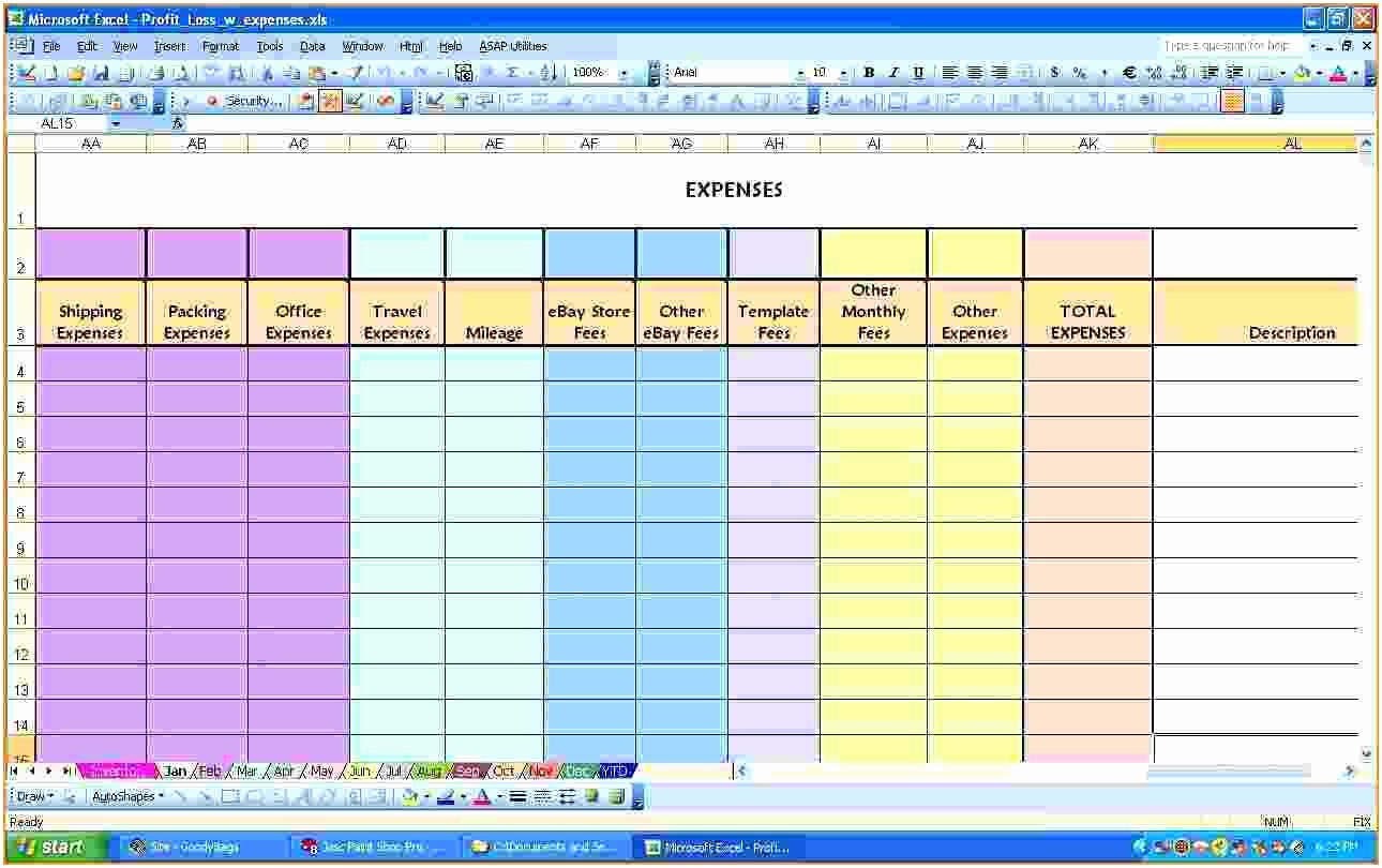 Monthly Expense Sheet Excel Template Beautiful Excel Spreadsheet for Monthly Expenses – Spreadsheet Template