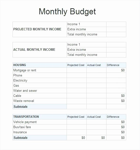 Monthly Expense Sheet Excel Template Elegant Home Bud Spreadsheet Excel Household Worksheet Template