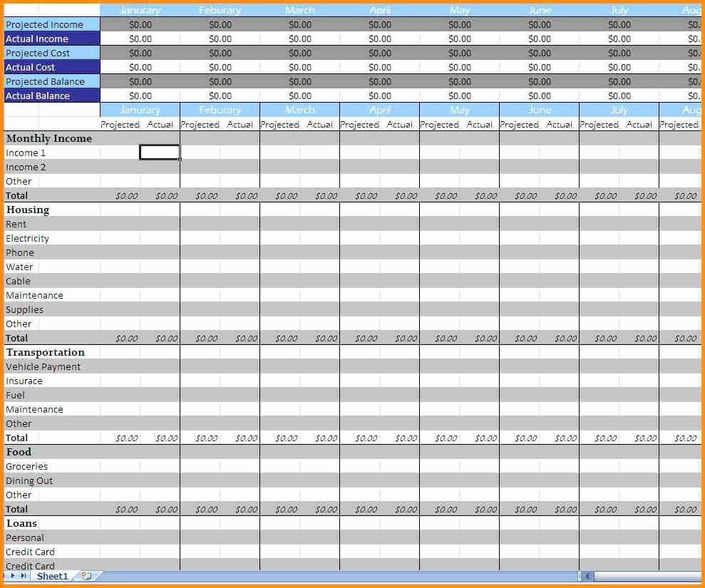 Monthly Expense Sheet Excel Template Lovely Monthly Expenses Spreadsheet Template Excel Expense