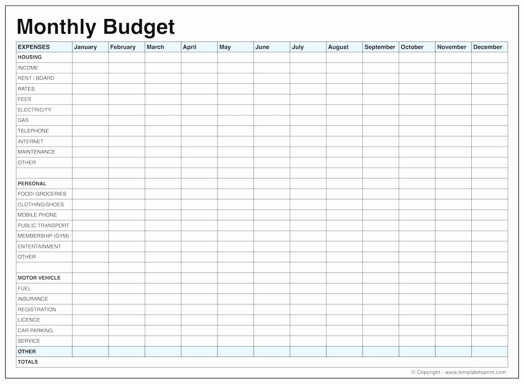 Monthly Expenses Spreadsheet Template Excel Elegant Printable Expense Tracker and In E Template Download