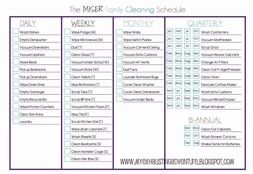 Monthly House Cleaning Schedule Template Beautiful Clean House Checklist – Triangulumfo