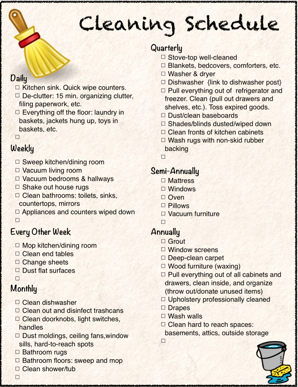 Monthly House Cleaning Schedule Template Beautiful Free Printable Cleaning Calendar and Checklist the