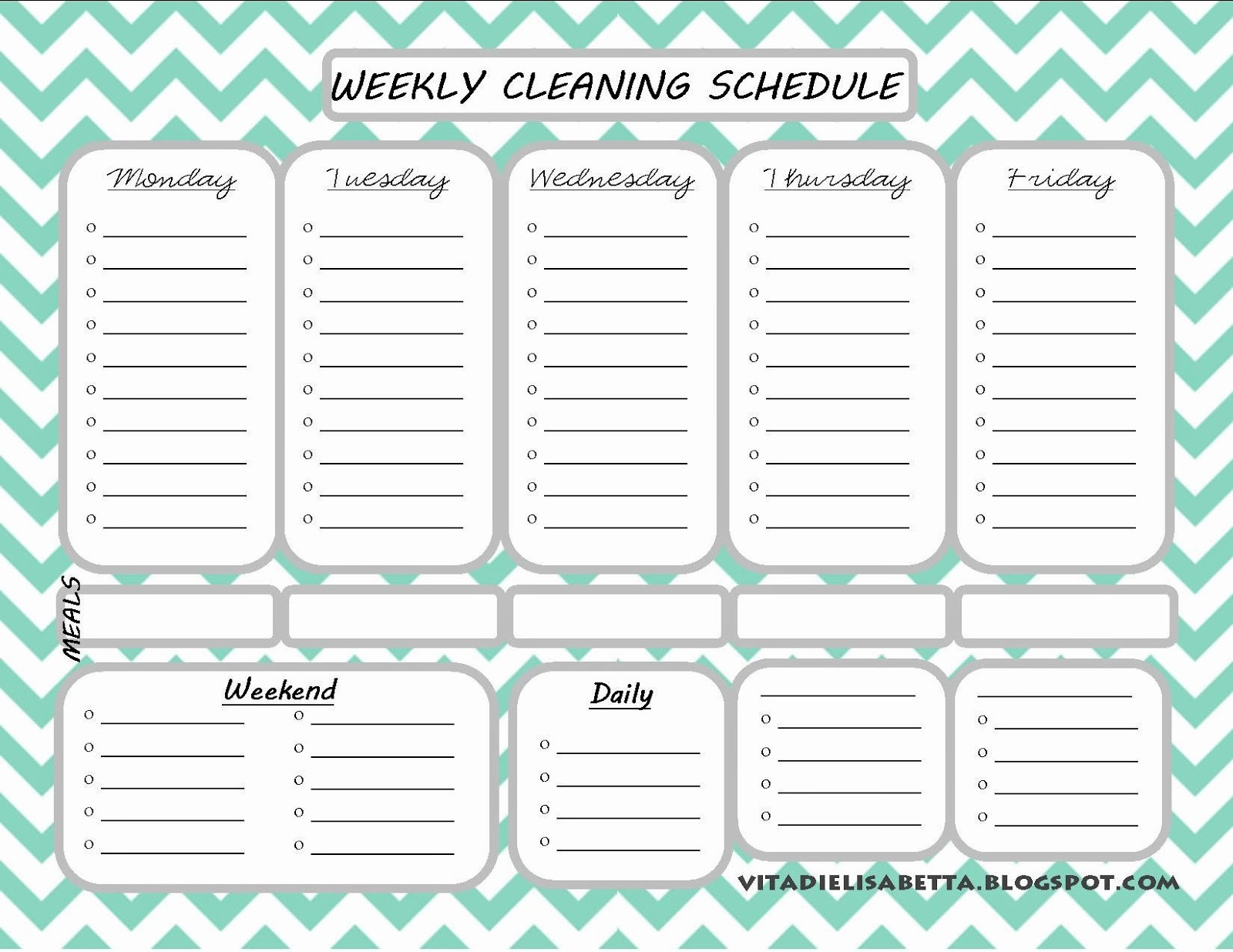 Monthly House Cleaning Schedule Template Fresh List Junkie Weekly Cleaning Schedule Free Printable