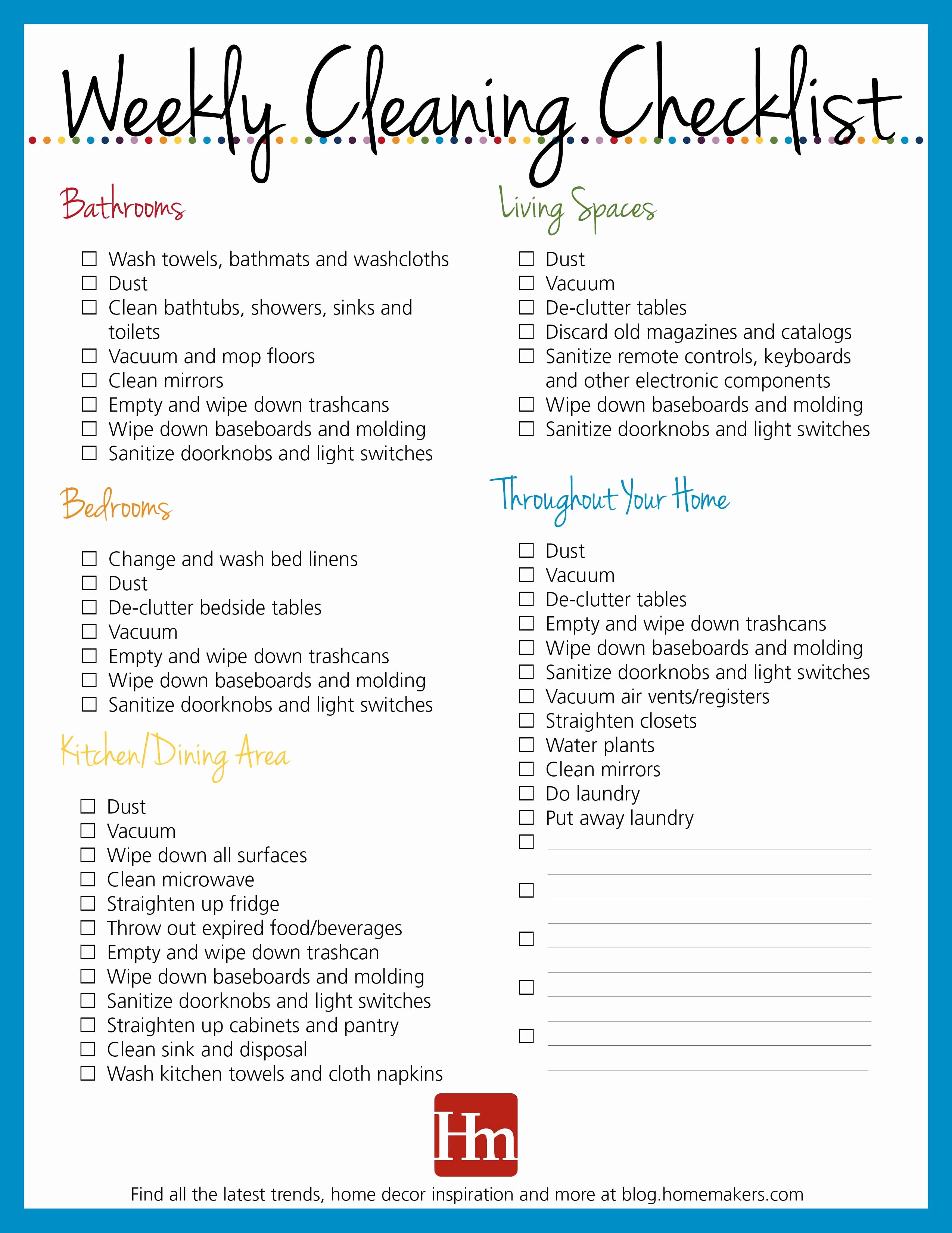Monthly House Cleaning Schedule Template Lovely Free Printables Daily Weekly & Monthly Cleaning Schedule