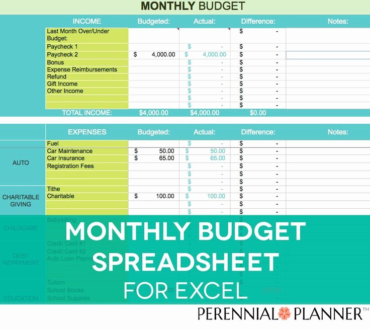 Monthly Household Budget Template Excel Best Of Monthly Bud Spreadsheet Household Money Tracker