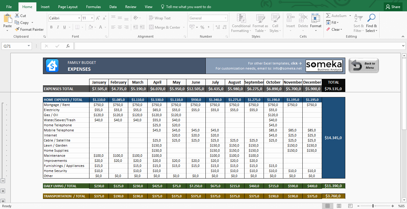 Monthly Household Budget Template Excel Elegant Family Bud Excel Bud Template for Household