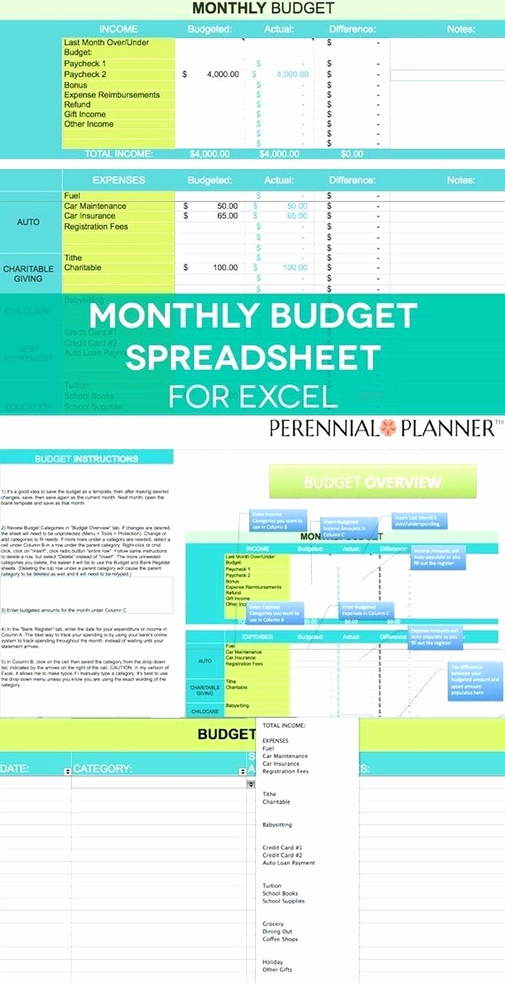 Monthly Household Budget Template Excel Unique Template Home Bud Excel Template
