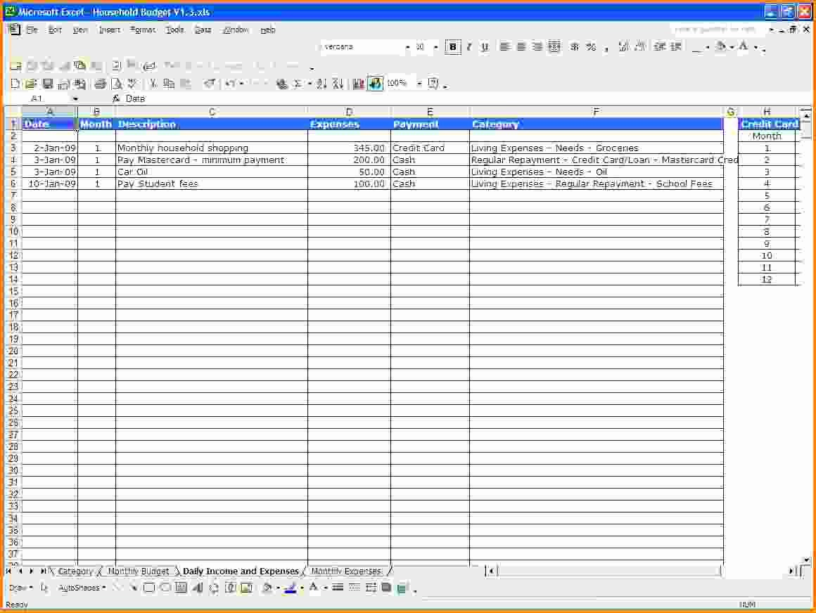 Monthly Income and Expense Worksheet Lovely Excel Spreadsheet Template for Expenses Spreadsheet
