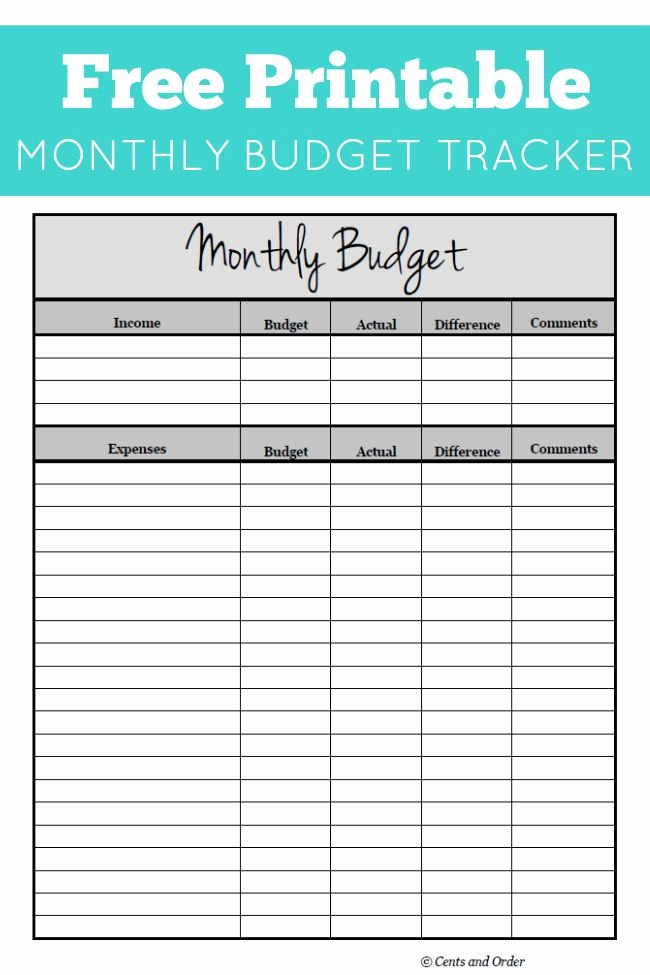 Monthly Income and Expense Worksheet New Free Monthly Bud Printable