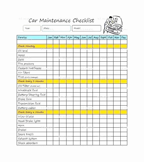 Monthly P&l Template Awesome Machine Maintenance Checklist Template Download Preventive