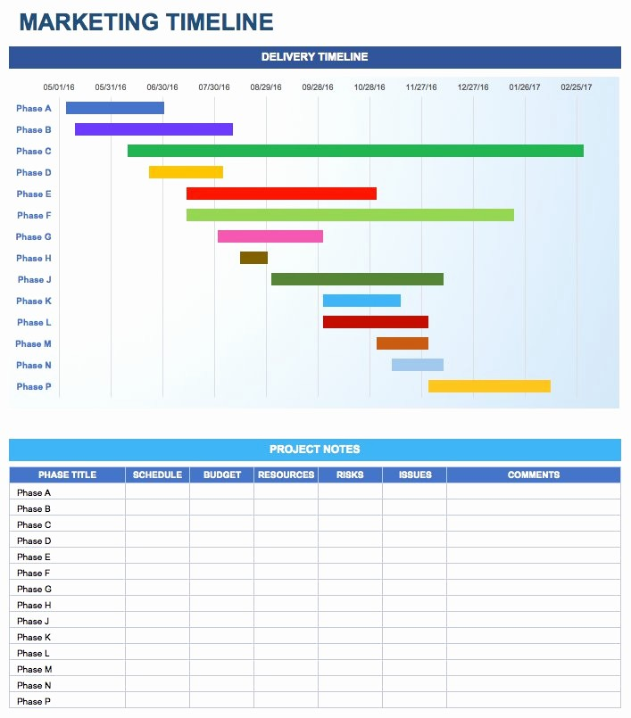 Monthly Project Timeline Template Excel Elegant Free Marketing Plan Templates for Excel Smartsheet