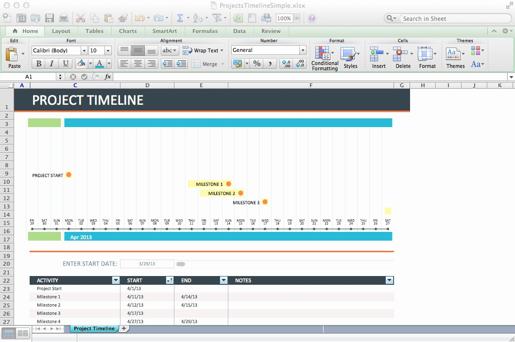 Monthly Project Timeline Template Excel Fresh Excel Template Project Timeline