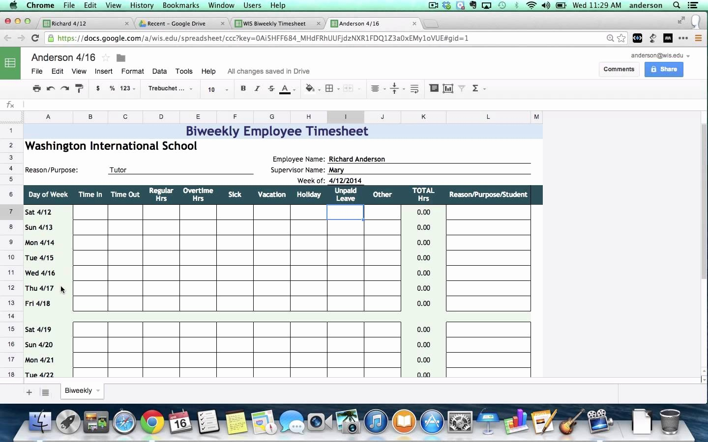 Monthly Timesheet Template Google Docs Elegant Google Spreadsheet Templates Timesheet Google Spreadshee