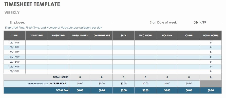 Monthly Timesheet Template Google Docs Luxury 15 Free Payroll Templates