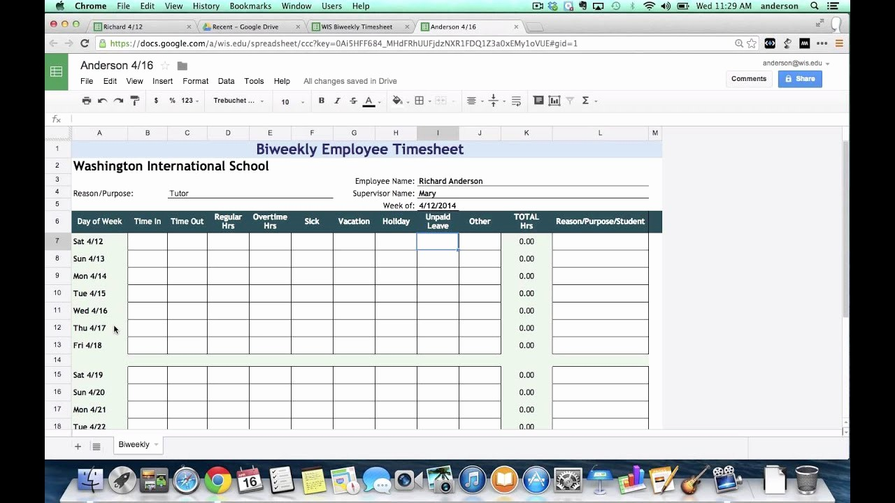 Monthly Timesheet Template Google Docs Luxury How to Make Excel Timesheet Free Timesheet Invoice