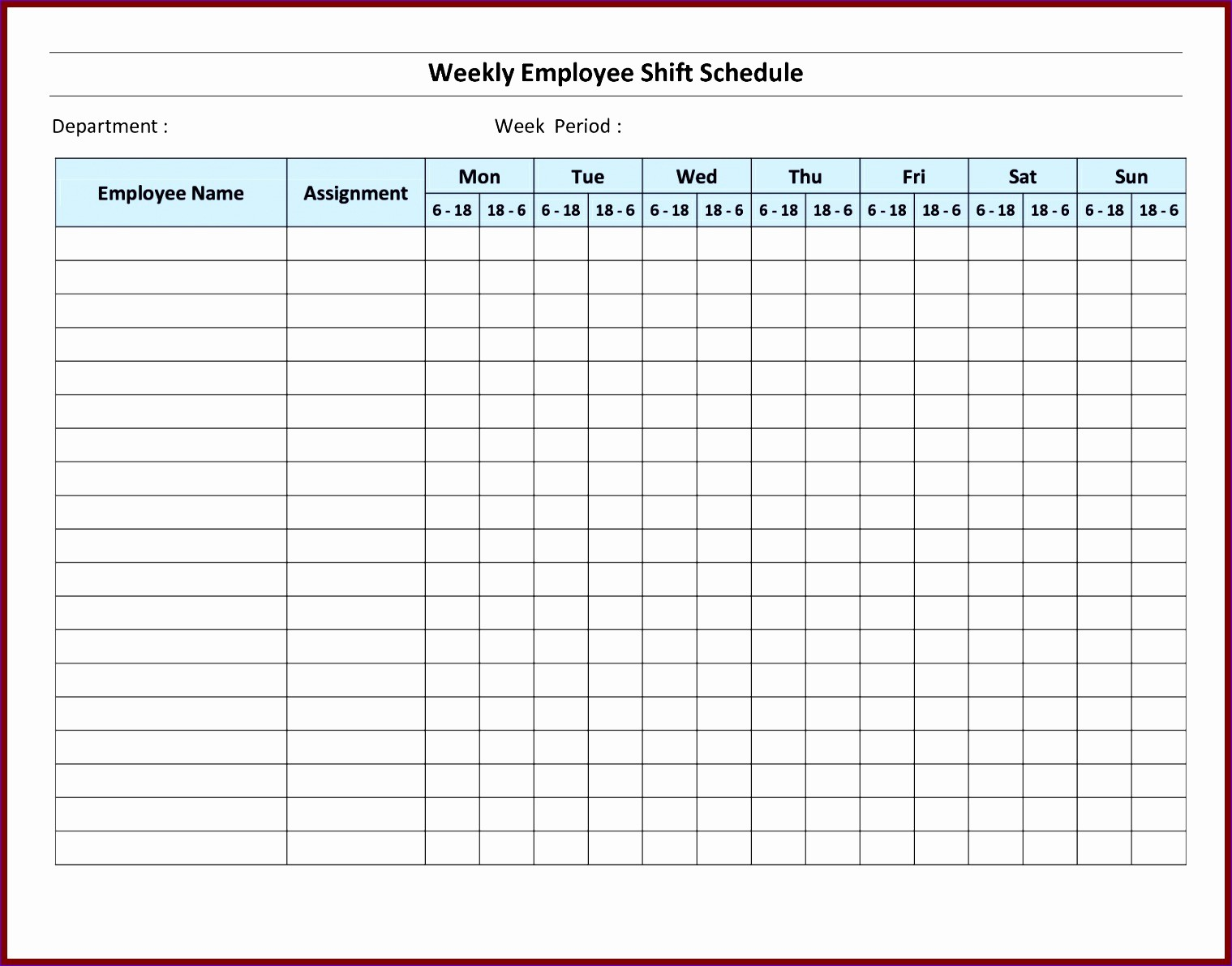 Monthly Work Schedule Template Excel Awesome 7 Monthly Staff Schedule Template Excel Exceltemplates