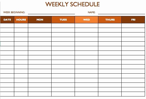 Monthly Work Schedule Template Excel Awesome Free Work Schedule Templates for Word and Excel
