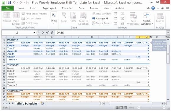Monthly Work Schedule Template Excel Best Of Weekly Employee Schedule Template Excel