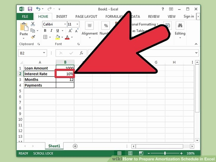 Mortgage Interest Amortization Schedule Excel Awesome How to Prepare Amortization Schedule In Excel 10 Steps