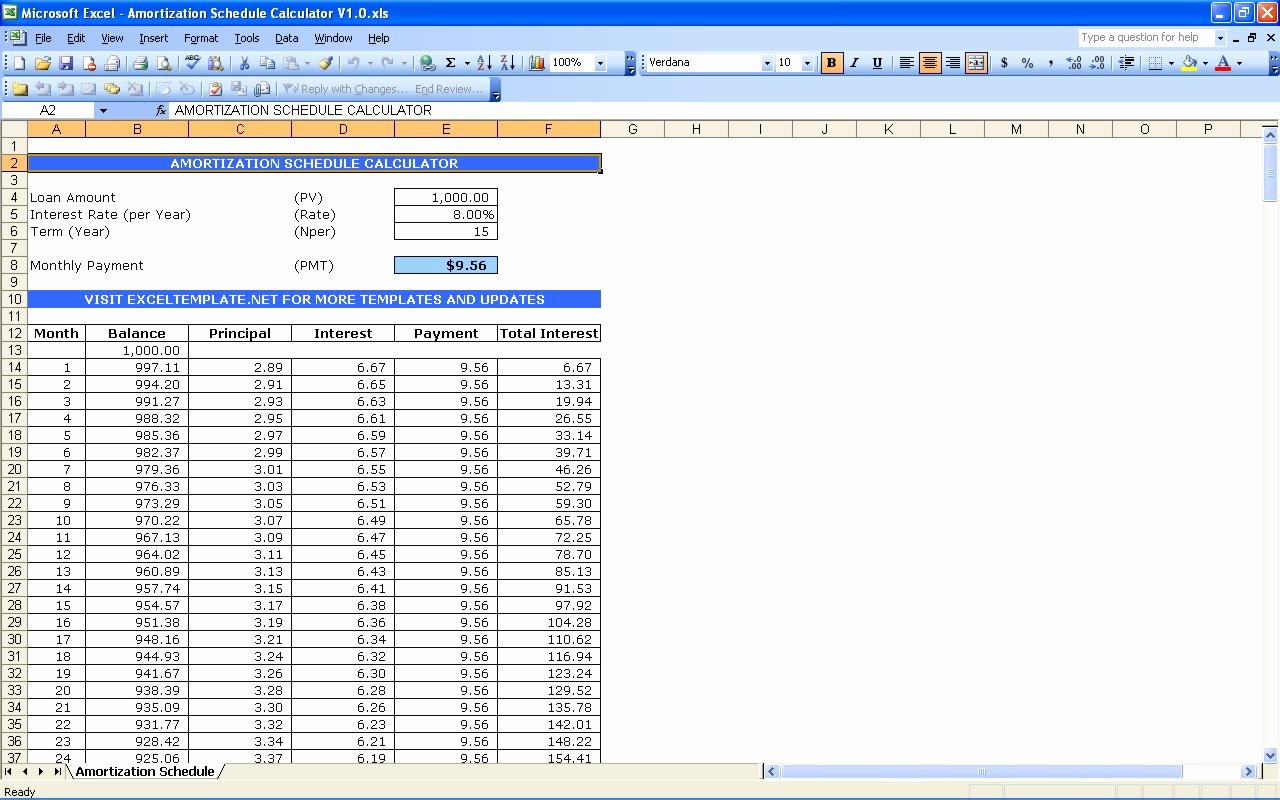 Mortgage Interest Amortization Schedule Excel Best Of Excel Templates Adds Plimentary Loan Amortization