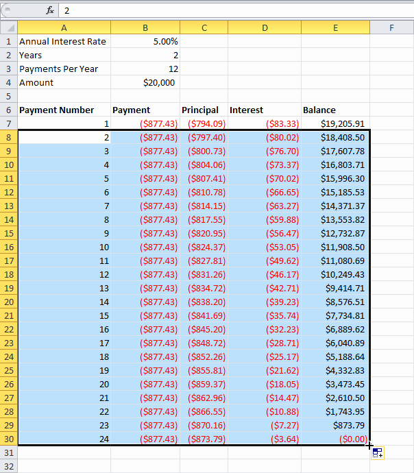 Mortgage Interest Amortization Schedule Excel Luxury Loan Amortization Schedule In Ms Excel Techsupport