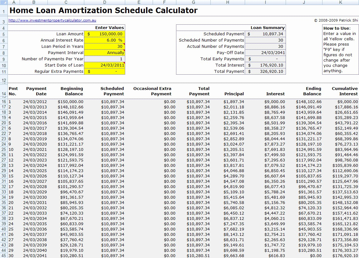 Mortgage Interest Amortization Schedule Excel New Mortgage Payment Table Spreadsheet