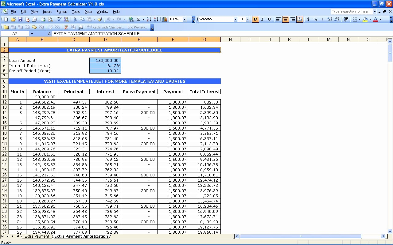 Mortgage Payment Schedule Calculator Excel Luxury Microsoft Excel Amortization Schedule Template How to