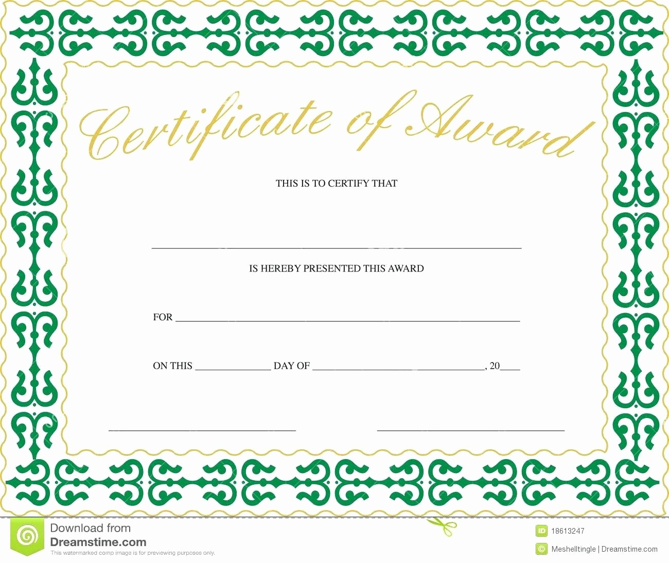 Most Improved Student Award Wording Awesome Template Thank You Certificate Template for Word