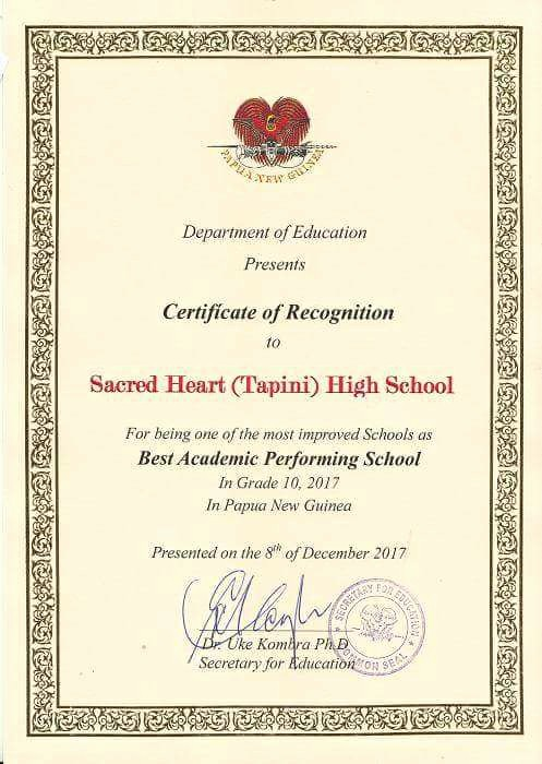 Most Improved Student Award Wording Beautiful Most Improved Award Goes to Tapini Sacred Heart High