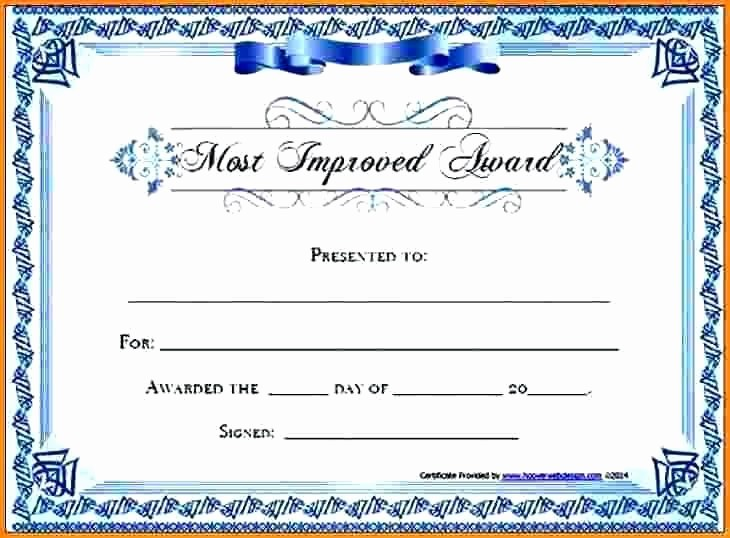 Most Improved Student Award Wording Fresh Most Improved Certificate