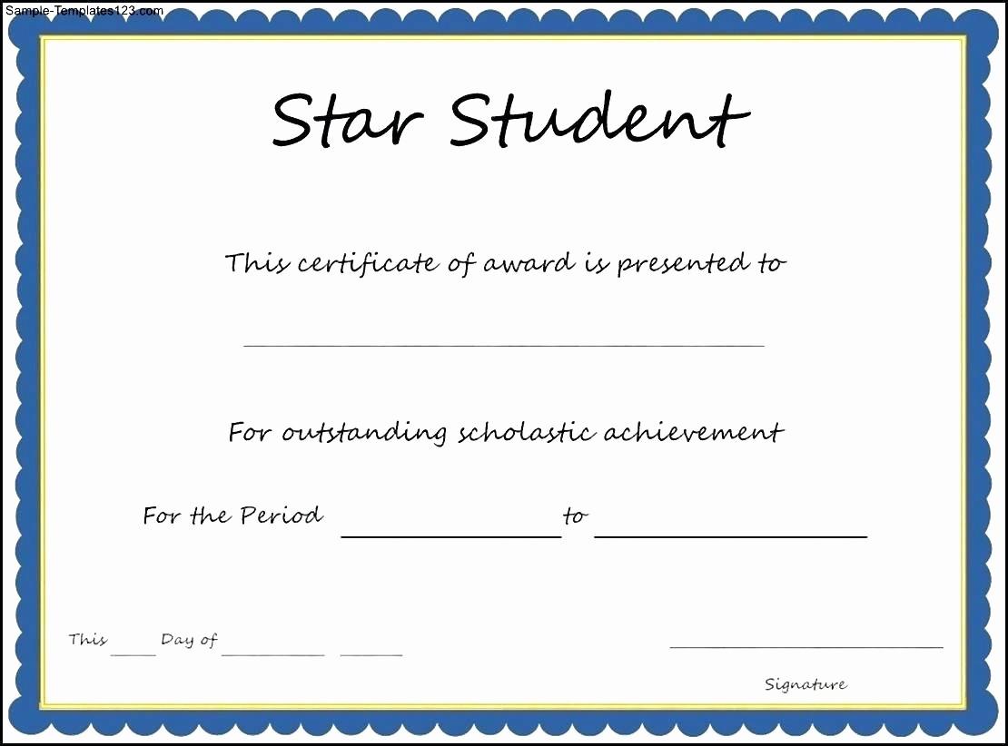 Most Improved Student Award Wording Fresh Student Awards Template Idealstalist