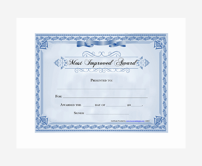 Most Improved Student Award Wording Inspirational Most Improved Award Certificate Free Printable Most