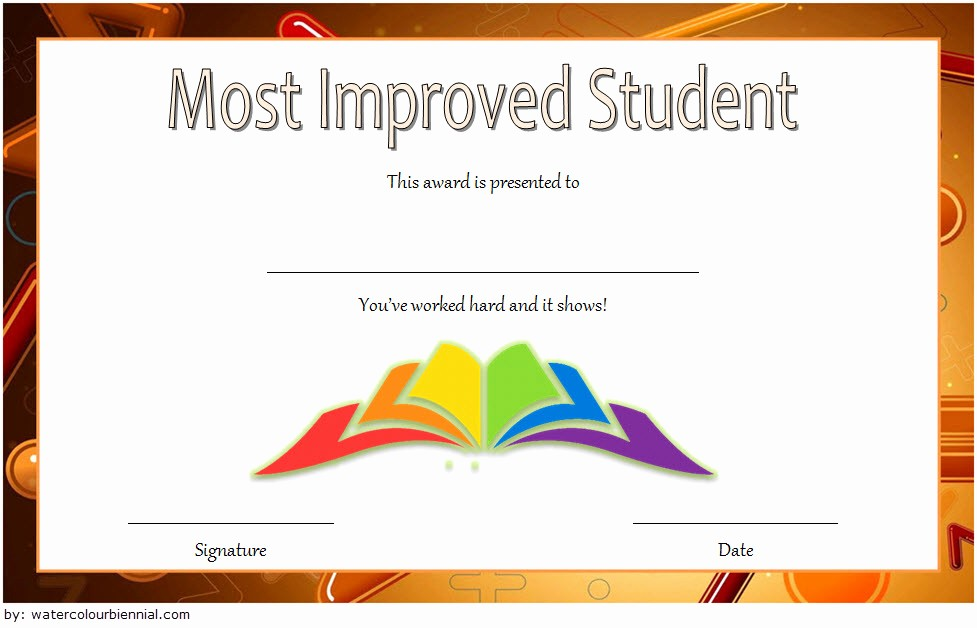 Most Improved Student Award Wording Inspirational Most Improved Student Certificate 10 Template Ideas