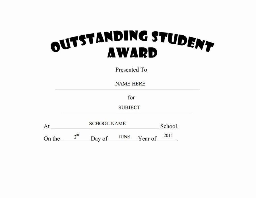 Most Improved Student Award Wording Lovely Awards Free Templates Clip Art & Wording