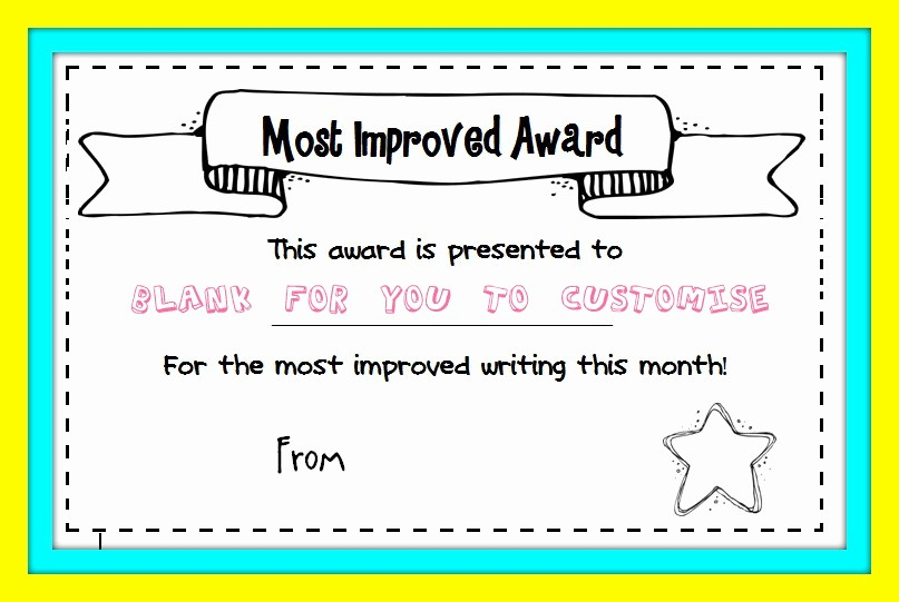 Most Improved Student Award Wording Lovely Best Handwriting Award Printable – Missmernagh