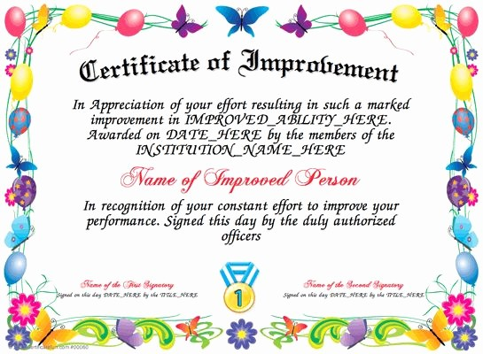 Most Improved Student Award Wording Unique 9 Best Images About Awards Certificate Templates On