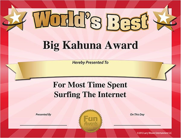 Most Likely to Awards Template Awesome 4 Best Of Funny Printable Certificates Free