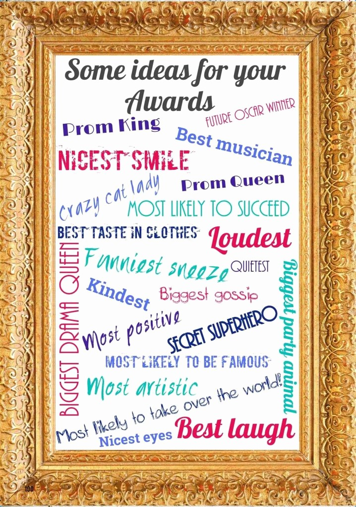 Most Likely to Awards Template Awesome Funny Award Categories for Students Template Update234