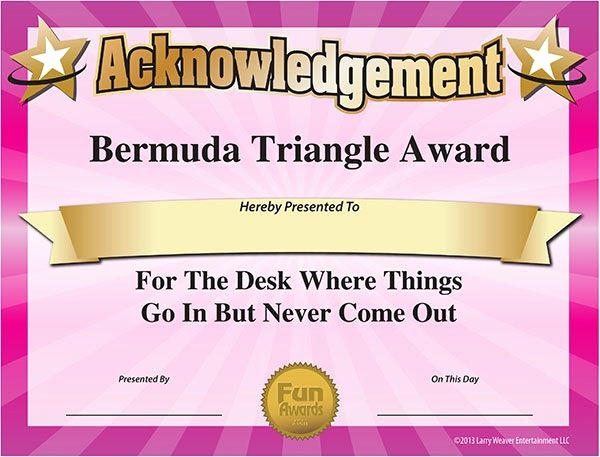 Most Likely to Awards Template Beautiful 25 Best Employee Awards Ideas On Pinterest