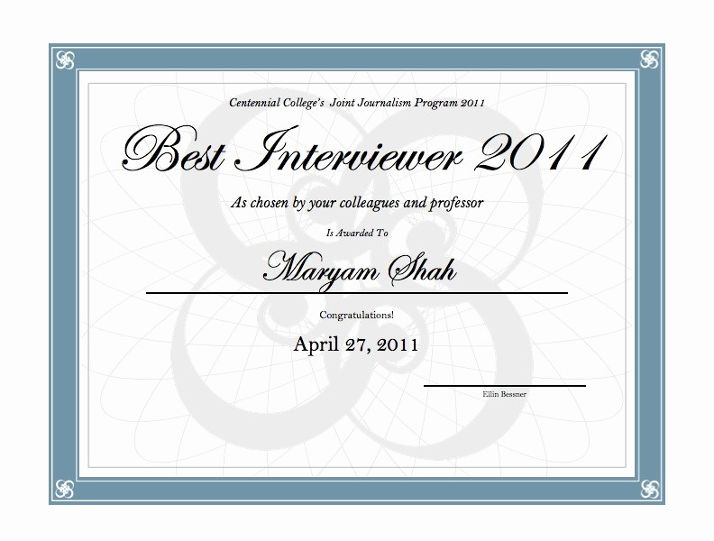 Most Likely to Awards Template Beautiful Ellin Bessner S Blog Interviewing Awards Centennial